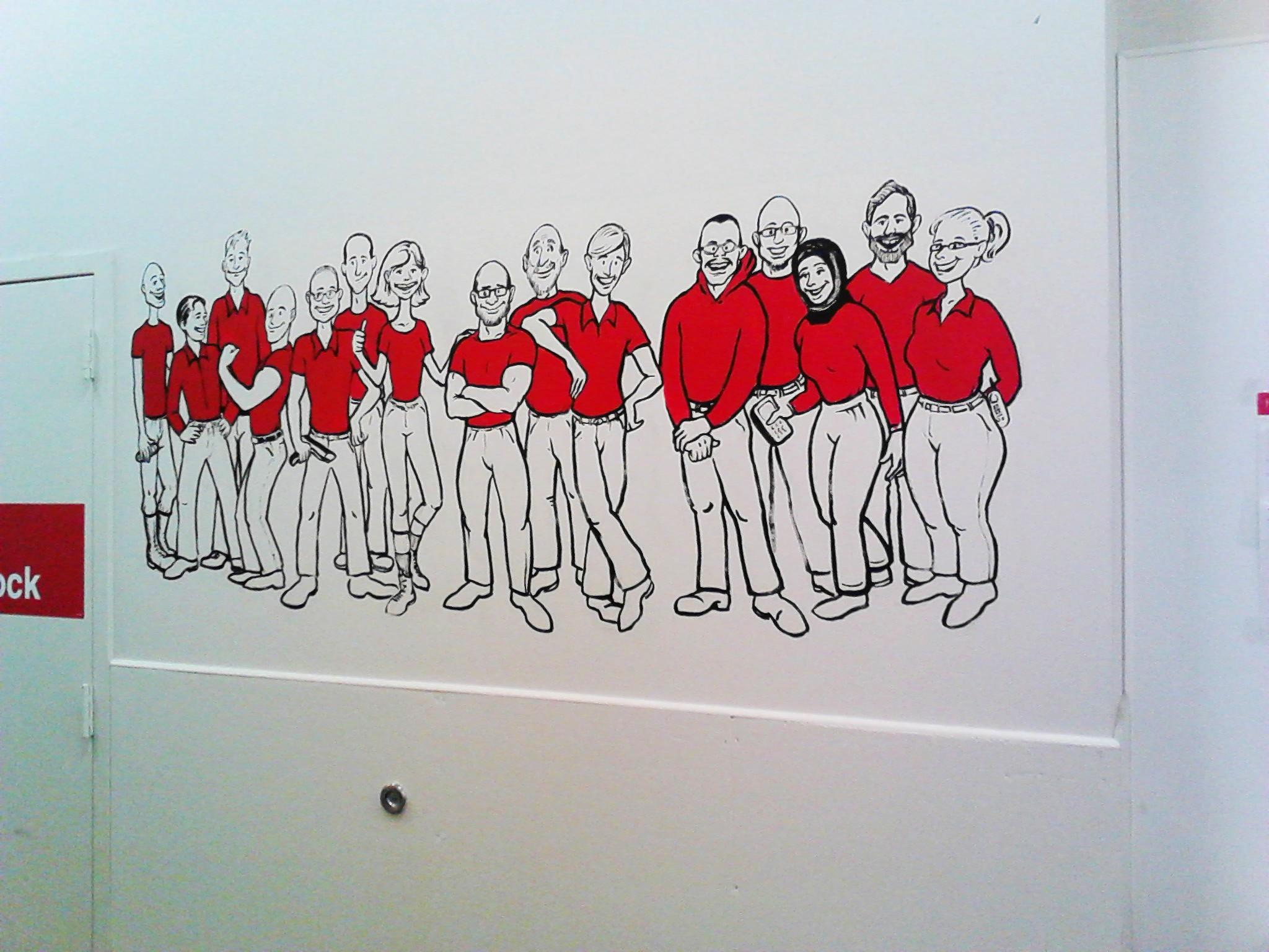 Target wall mural